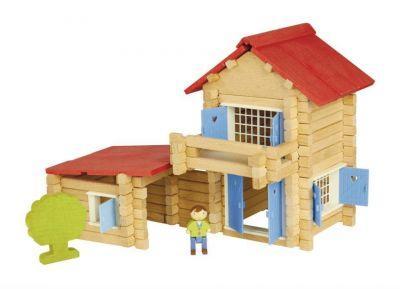 Jeu de construction Chalet en bois 140 pièces