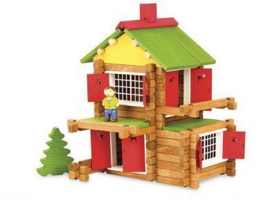 Jeu de construction Chalet en bois 135 pièces