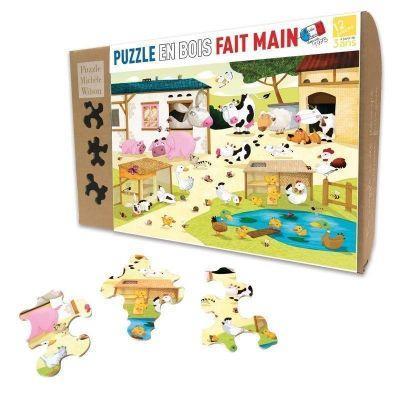 Puzzle 12 pièces en bois