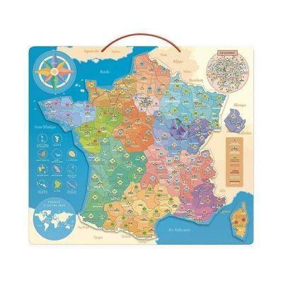 Puzzle magnétique Carte de France jeu éducatif