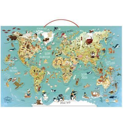 Puzzle magnétique Carte du Monde jeu éducatif