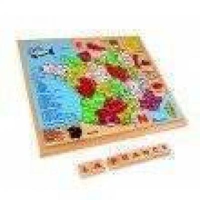 A-PROMOTIONS Puzzle Carte de france en bois
