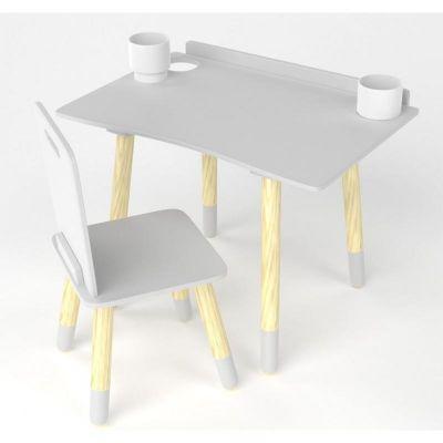 Table et chaise de bureau d'écolier Blanc