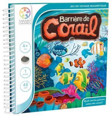 Jeu de voyage magnétique de logique barrière de corail
