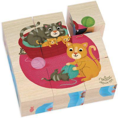 Puzzle cubes en bois Animaux