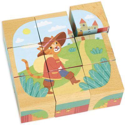Puzzle cubes en bois Contes