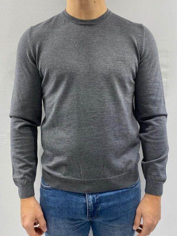 Hugo Boss Botto-L mailles fines à encolure ras-du-cou laine pull turquoise 50373739 446