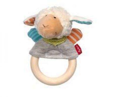 Doudou anneau à saisir hochet Mouton