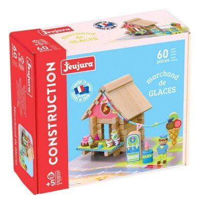 Jeu de construction Le Marchand de glaces en bois 60 pièces