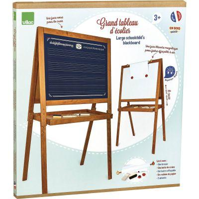 Tableau en bois d'école vintage