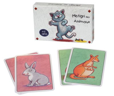 Jeu de cartes Mistigri des animaux