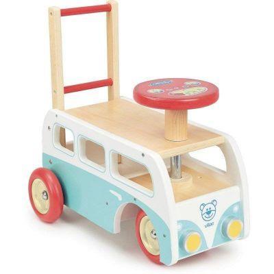 Porteur et Chariot Minibus en bois