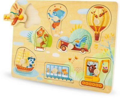 Puzzle 8 pièces à boutons Transports