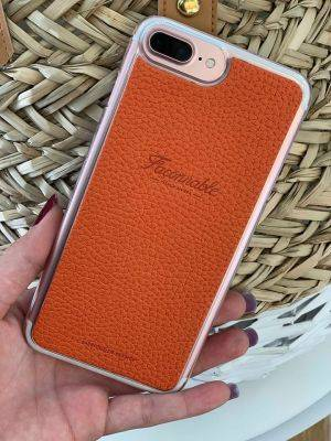 Coque rigide Façonnable orange collection French Riviera pour iPhone