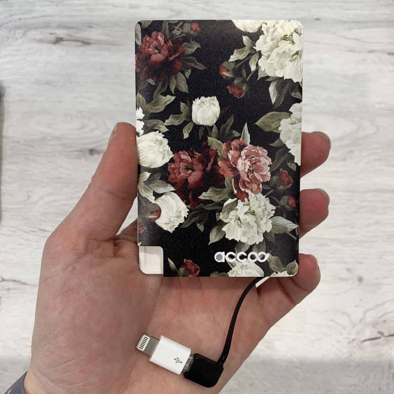 achat vienne batterie externe pas cher dark floral accoo collection noholita 2700 mah avec adaptateur pour iphone cable pour rechargement et pochette de rangement 5 LKJFPW